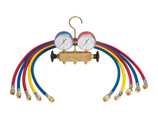 APEX-6-DS-R22-CCL-60 REFCO Brass Manifold Set (R22/134A/404A)