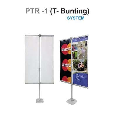 PTR T style bunting stand