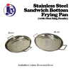 Stainless Steel Sandwich Bottom Frying Pan (With Dual Ring Handle) Frying Pan Cookware
