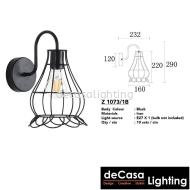 LOFT WALL LIGHT (Z1073-BK-W)