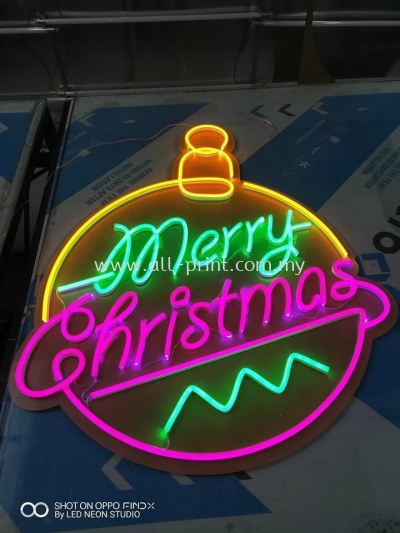 marry cristmas -custom made LED Neon&LED Fabric lightbox