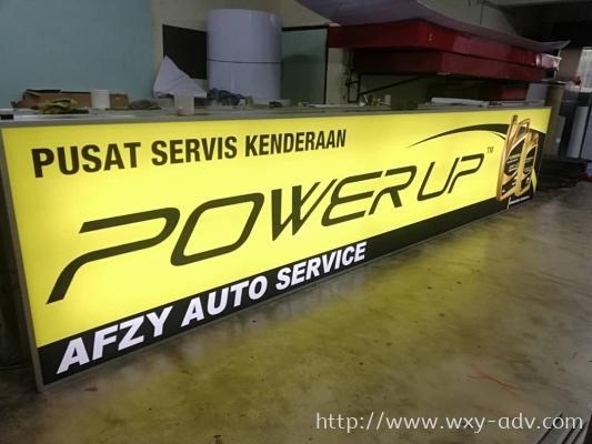 AFZY AUTO SERVICE Lightbox Signboard