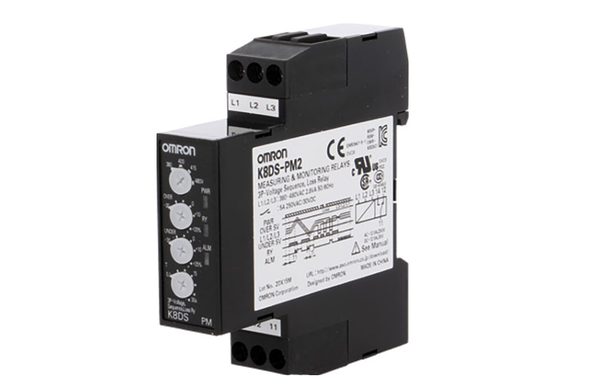 Omron K8DS-PZ Ideal for Monitoring 3-phase Power Supplies for Industrial Facilities and Equipment. 17.5 mm
