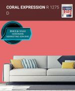 NIPPON INTERIOR PAINT Q GLO - R1275D CORAL EXPRESSION