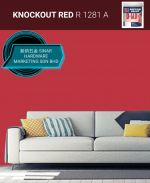 NIPPON INTERIOR PAINT Q GLO - R1281A KNOCKOUT RED