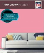 NIPPON INTERIOR PAINT Q GLO - R1283T PINK CROWN
