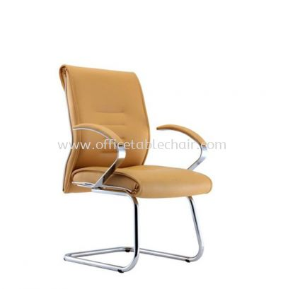 TORIO 2 VISITOR LEATHER CHAIR C/W METAL CHROME BASE
