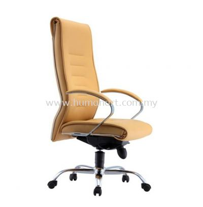 TORIO 2 DIRECTOR HIGH BACK LEATHER CHAIR C/W CHROME METAL BASE