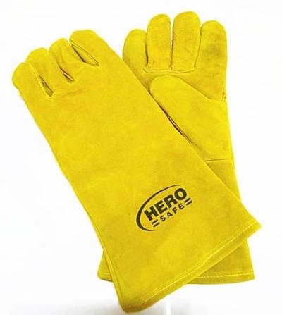 """3pairs Full Leather Hand Glove 14"""" Hero Tech"""