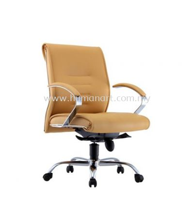 TORIO 2 DIRECTOR LOW BACK LEATHER CHAIR C/W CHROME METAL BASE