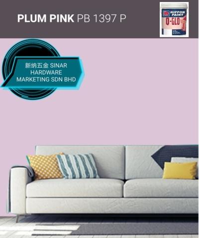 NIPPON INTERIOR PAINT Q GLO - PB1397P PLUM PINK