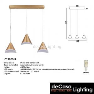 MODERN PENDANT LIGHT (9063-3)