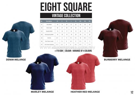 EIGHTSQUARE Cotton Roundneck Melange T Shirt  1