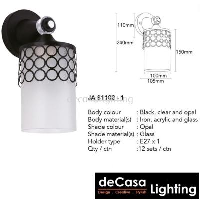 Modern Contemporary Wall Light (JA81103-W)