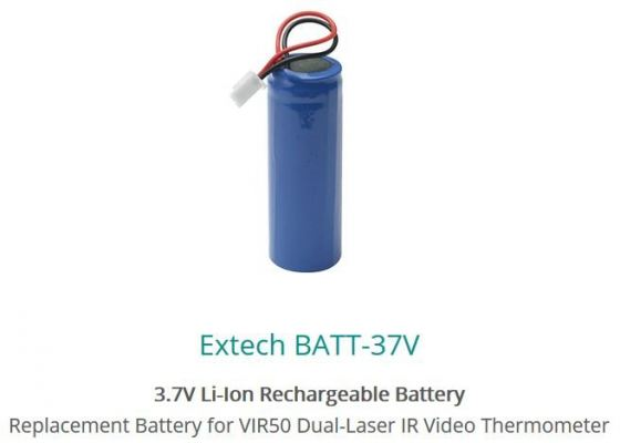 Extech BATT-37V 3.7V Li-lon Rechargeable Battery