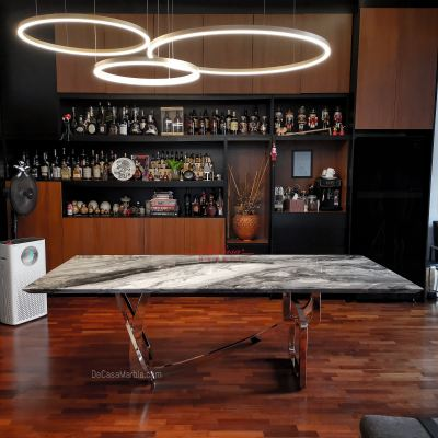 Arabescato Orobico | Luxury Marble Table | 8 seaters