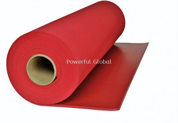 Red Lina Rubber Sheet