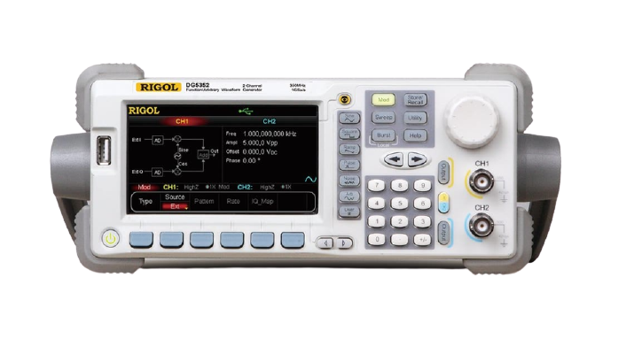 RIGOL DG5352 Arbitrary Waveform Function Generator 350MHz, 2 Channel