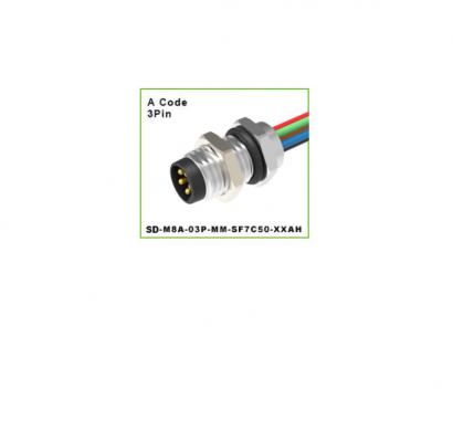 DEGSON - SD-M8A-03P-MM-SF7C50-XXAH CIRCULAR CONNECTOR