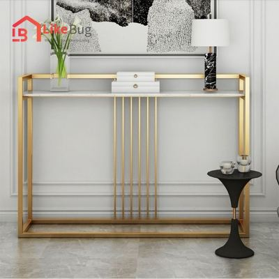 Duna Marble Texture Console Table / Display Table Rack