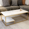 ARGON Marble Texture Modern Rectangle Coffee Table Table Home & Living