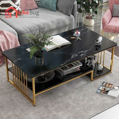 ARTES Marble Texture Modern Rectangle Coffee Table