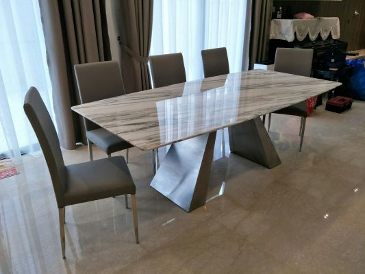 White Marble Dining  Table Set