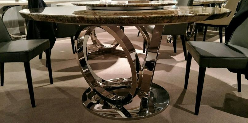 Modern Round Marble Dining Table  Stand