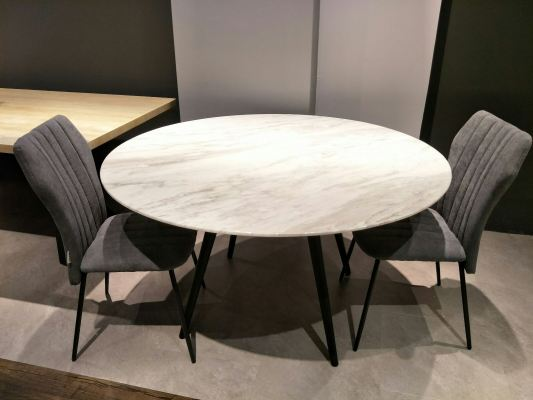 Natural white marble dining table
