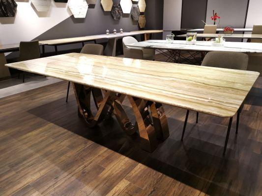 Modern Marble Dining Table Design With Natural Marble