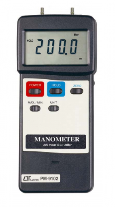 LUTRON PM-9102 Manometer, 200 mbar, differential input