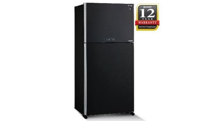 SHARP 2 DOOR FRIDGE 610L BLACK SJP60MFMK