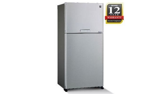 SHARP 2 DOOR FRIDGE 610L SILVER SJP60MFMS