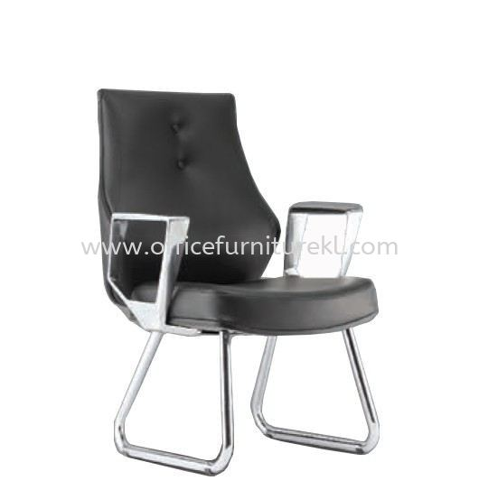 BEGONIA DIRECTOR VISITOR LEATHER CHAIR C/W CHROME CANTILEVER BASE