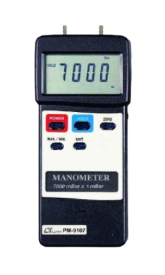 LUTRON PM-9107 Manometer, 7000 mbar, differential input