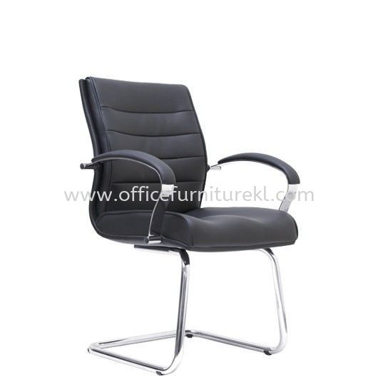 BRAMPTON DIRECTOR VISITOR LEATHER CHAIR C/W CHROME CANTILEVER BASE
