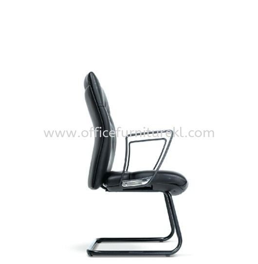 CAMPO DIRECTOR VISITOR LEATHER CHAIR C/W EPOXY BLACK CANTILEVER BASE