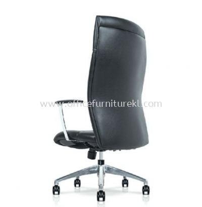 CAMPO DIRECTOR HIGH BACK LEATHER CHAIR C/W ROCKET ALUMINIUM DIE-CAST BASE