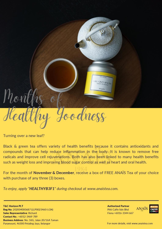 Coffee Machine Rental: Healthy Month With Anais Tea
