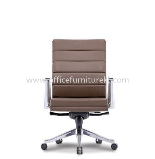 DIANTHUS DIRECTOR LOW BACK LEATHER CHAIR C/W ALUMINIUM DIE-CAST BASE