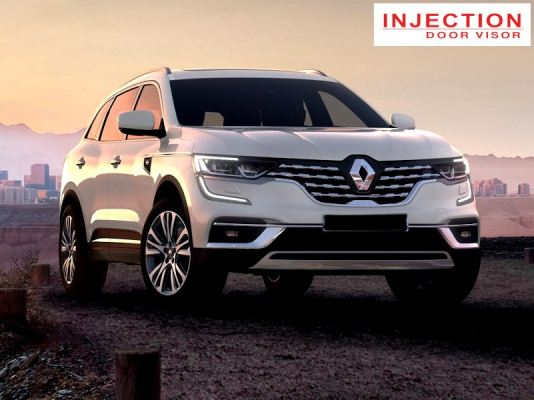 RENAULT KOLEOS 17Y-ABOVE = INJECTION DOOR VISOR WITH STAINLESS STEEL LINING