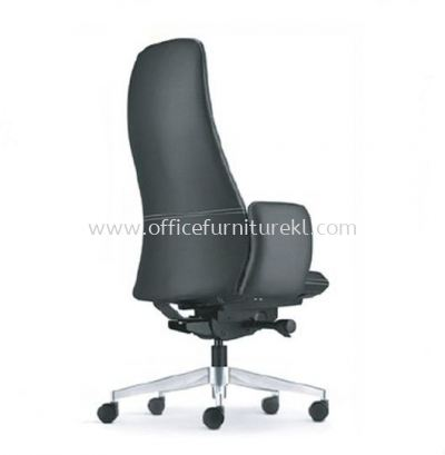 EVE DIRECTOR HIGH BACK LEATHER CHAIR WITH ALUMINIUM BASE AND FIXED ARM AEV 6410L-A