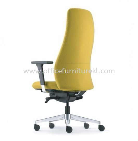 EVE DIRECTOR HIGH BACK LEATHER CHAIR WITH ALUMINIUM BASE AND ALUMINIUM ADJUSTABLE ARMREST AEV 6410F-D