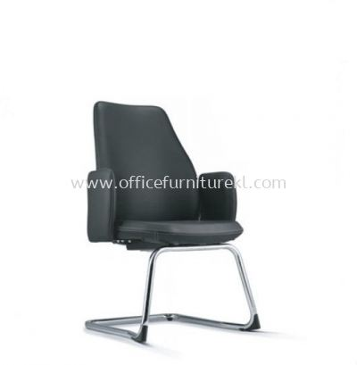 EVE DIRECTOR VISITOR LEATHER CHAIR WITH CHROME CANTILEVER BASE AND FIXED ARMREST AEV 6413L-CA