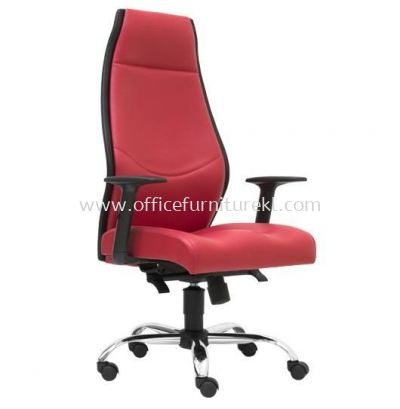 LUTON DIRECTOR HIGH BACK LEATHER CHAIR SIDE VIEW