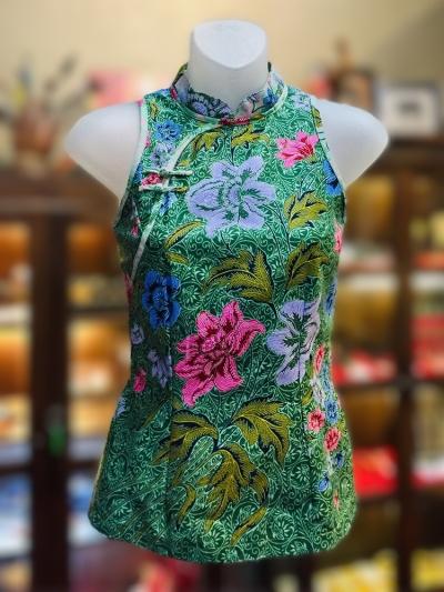 BTK(T)035 Batik Qipao Top
