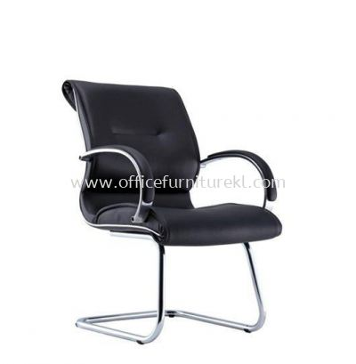 TORIO 1 VISITOR LEATHER CHAIR WITH CHROME CANTILEVER BASE