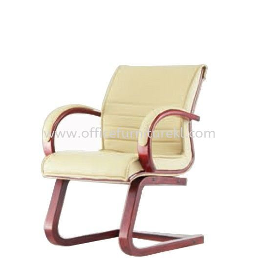 CANTARA 2A DIRECTOR VISITOR LEATHER CHAIR C/W WOODEN CANTILEVER BASE