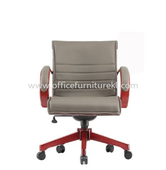CANTARA 2B DIRECTOR LOW BACK LEATHER OFFICE CHAIR - Best Selling | Wooden Director Office Chair Jalan Ipoh | Wooden Director Office Chair Bandar Sunway | Wooden Director Office Chair Subang