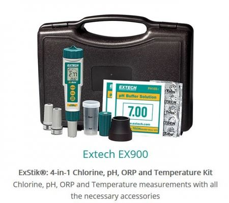 Extech EX900 ExStik 4in1 Chlorine, pH, ORP and Temperature Kit